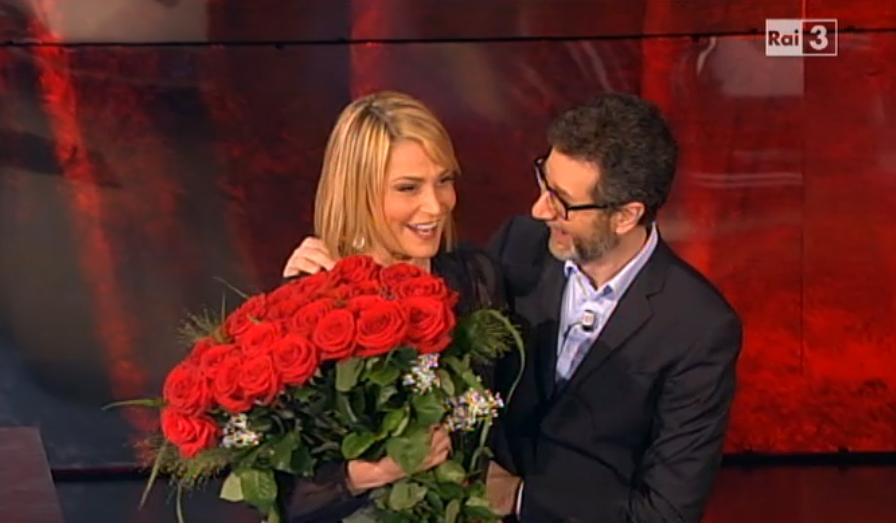 Le rose per Simona Ventura