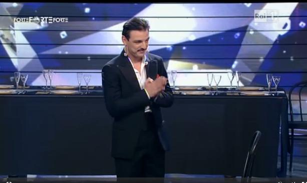 Stefano Simmaco durante l'ultima puntata
