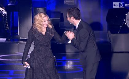 Madonna a Che Tempo Che fa dell'8 marzo: l'intervista-brindisi con Fabio Fazio