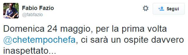 Fabio Fazio Twitter