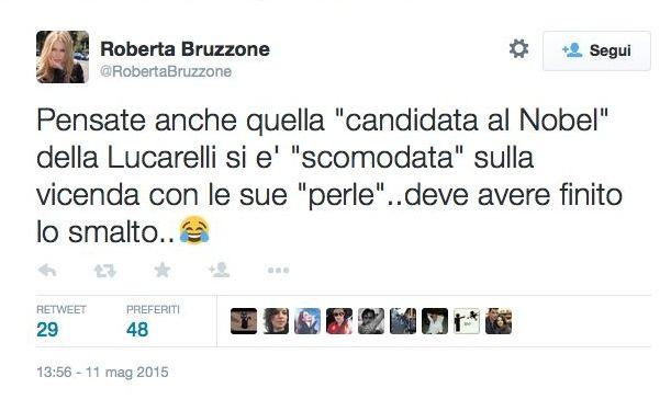 Tweet Roberta Bruzzone