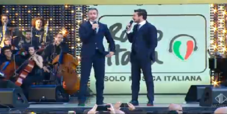 Luca e Paolo sul palco