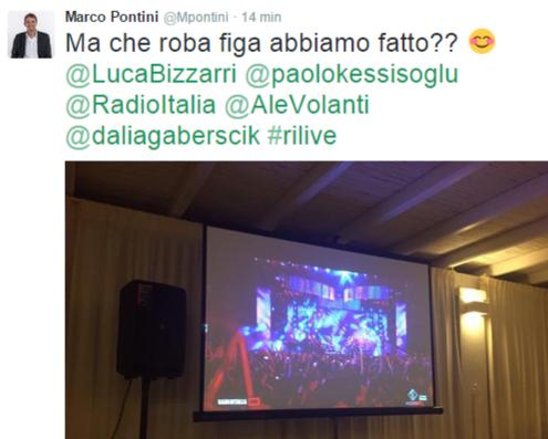 Marco Pontini su Twitter