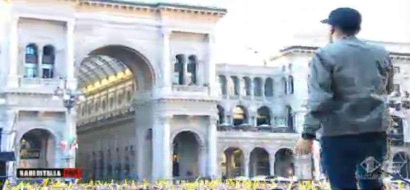 Max Pezzali canta in Piazza Duomo