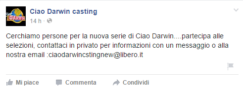Ciao Darwin 7 casting online