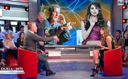I Duellanti, lite in tv tra Alba Parietti e Aldo Busi su Rai 1 il 6 luglio