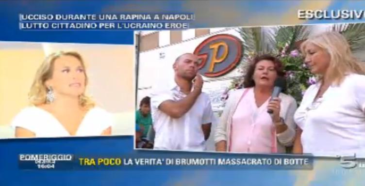 Annamaria Chiariello in collegamento con Barbara D'Urso