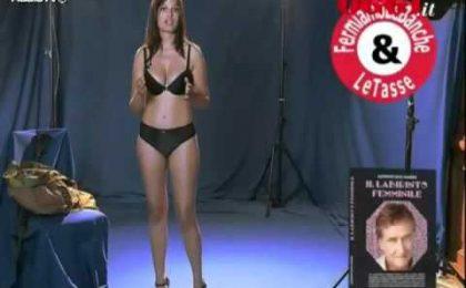 Sara Tommasi tra(s)vestita da Bin Laden nel nuovo spot di Marra (video)