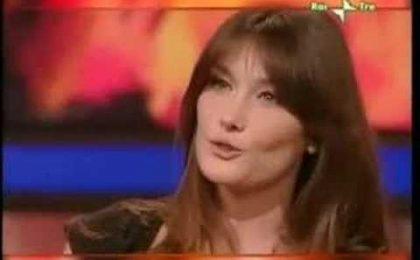 Carla Bruni a Che Tempo che Fa