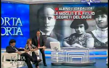 Bruno Vespa figlio segreto del Duce? La Mussolini rilancia, Vespa si arrabbia