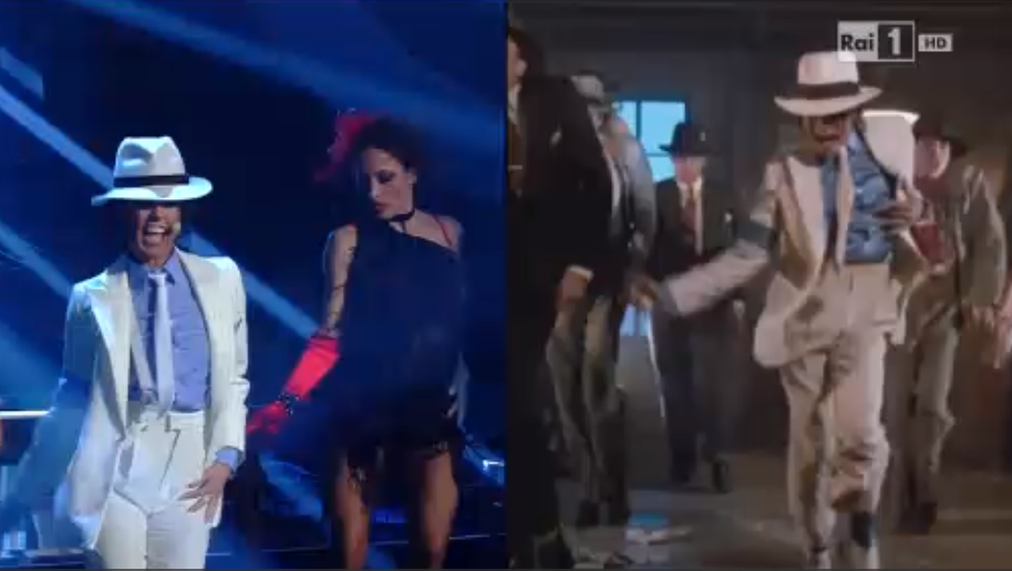Bianca Guaccero imita Michael Jackson