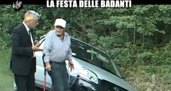Enrico Lucci festa badanti