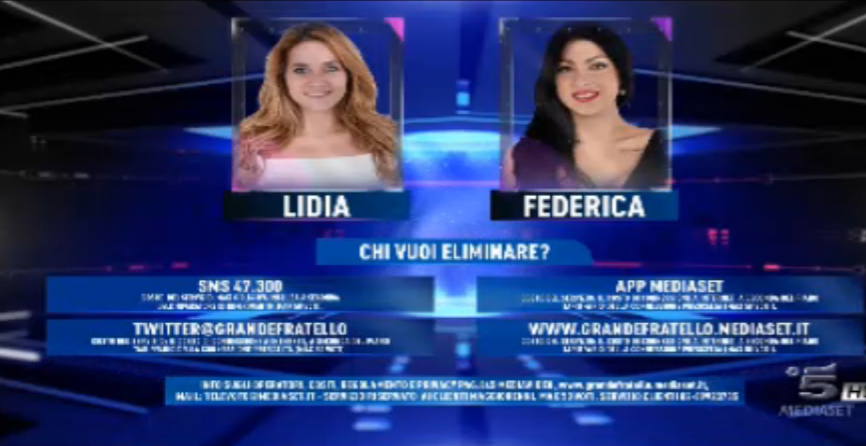 Lidia e Federica in nomination
