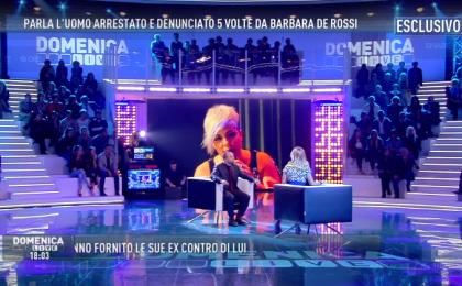 Lite in diretta tv a Domenica Live tra l'ex di Barbara De Rossi e Manuela Villa
