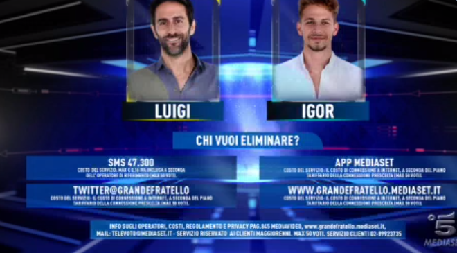 Luigi e Igor al televoto