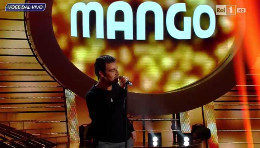 Mango, imitazione Valerio Scanu