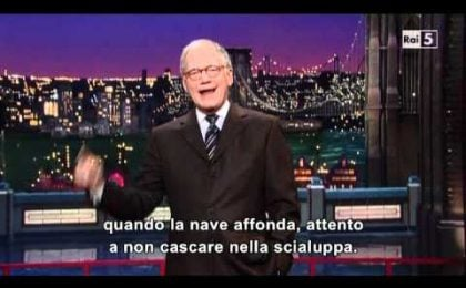 Naufragio Costa Concordia, gli Usa ridono alle battute di David Letterman (video)