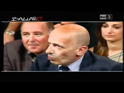 """Sallusti a Ballarò: """"Santoro va via? Se la Rai trasmettesse film porno ci guadagnerebbe"""" (video)"""