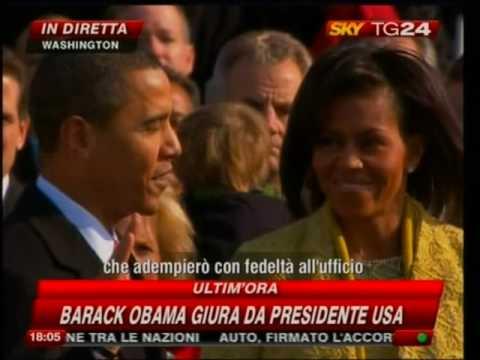 Barack Obama, il giuramento (video)
