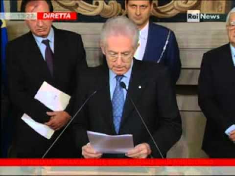 Il Governo Monti nasce in diretta tv: ecco la lista dei ministri (video)