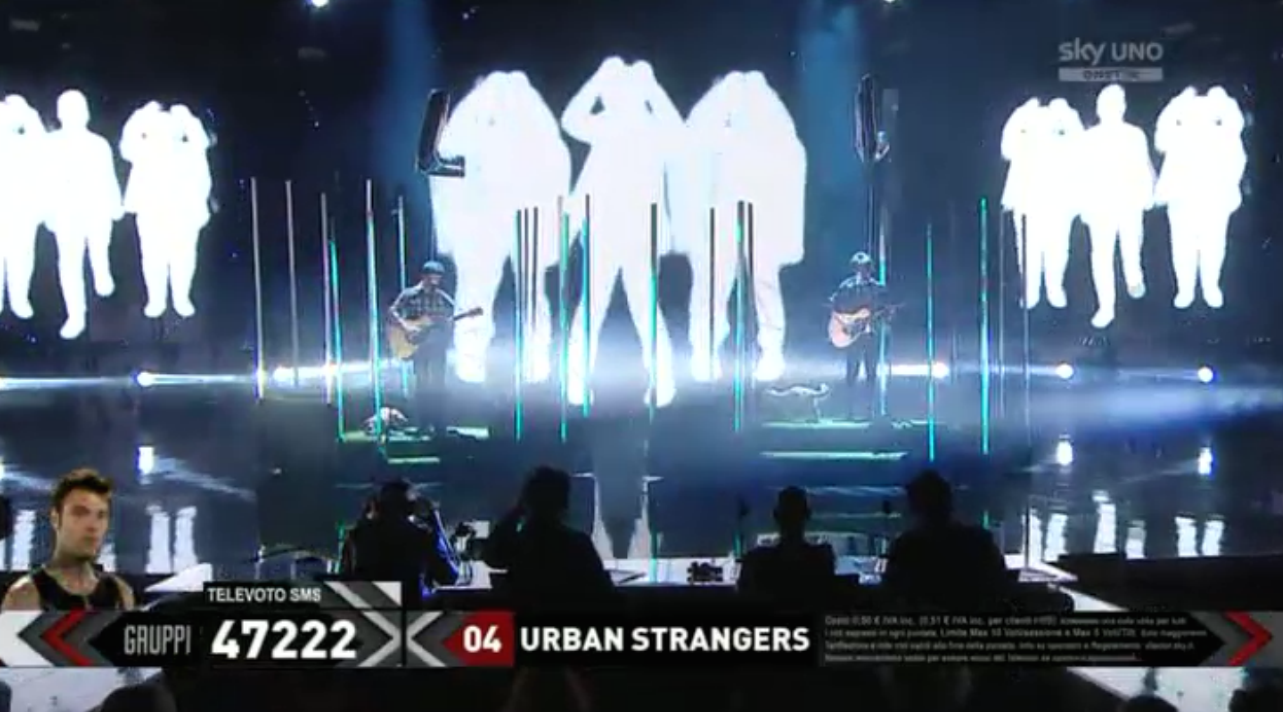 14 Gli Urban Strangers nella seconda manche del sesto Live Show