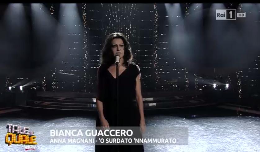 Bianca Guaccero imita Anna Magnani