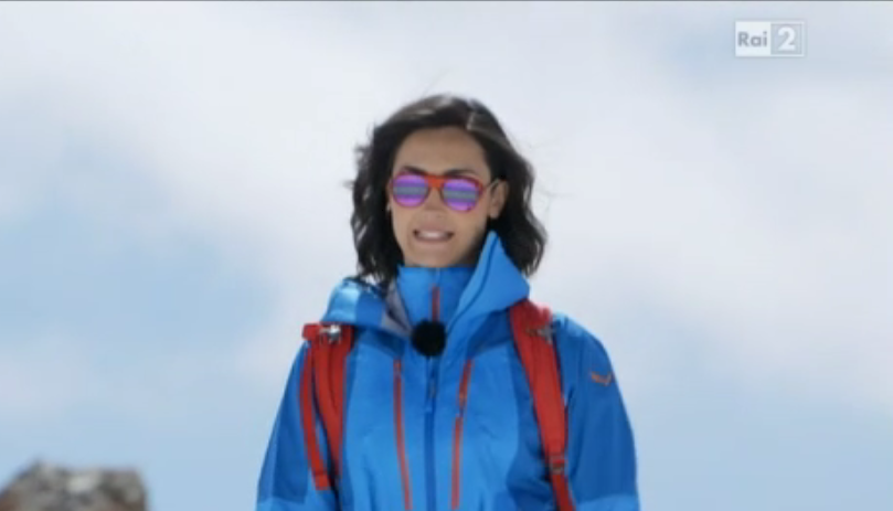 Caterina Balivo conduce Monte Bianco