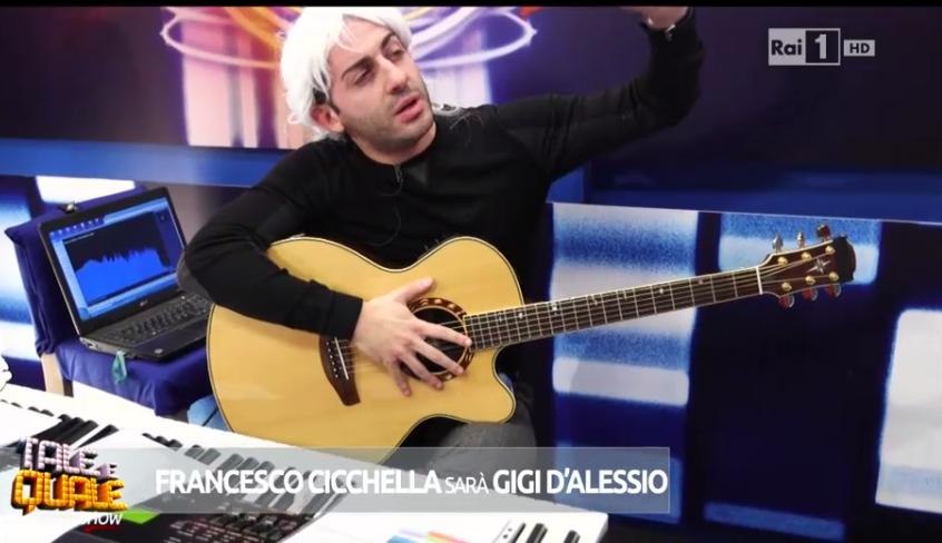 Francesco Cicchella deve imitare Gigi D'Alessio