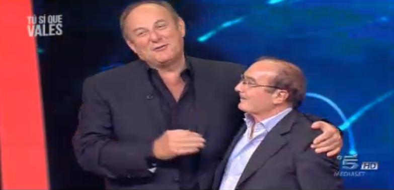 Gerry Scotti con Vincenzo De Santis