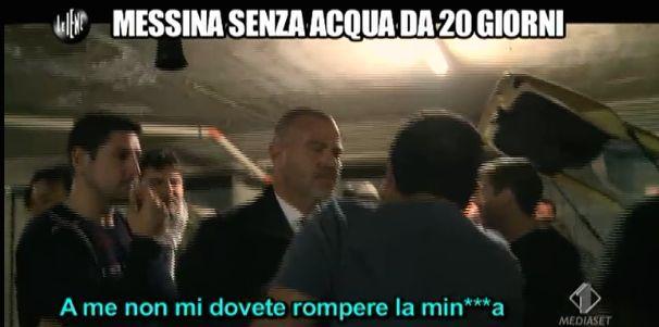 Giulio Golia crisi idrica Messina