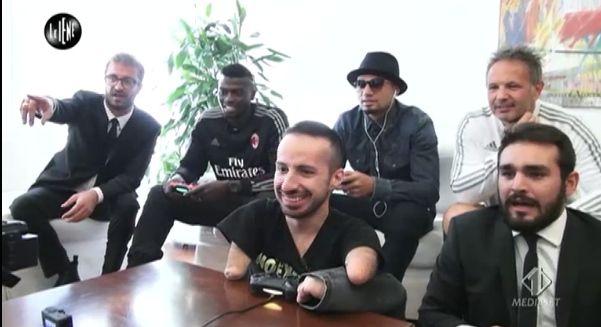 Massimiliano e i giocatori del Milan