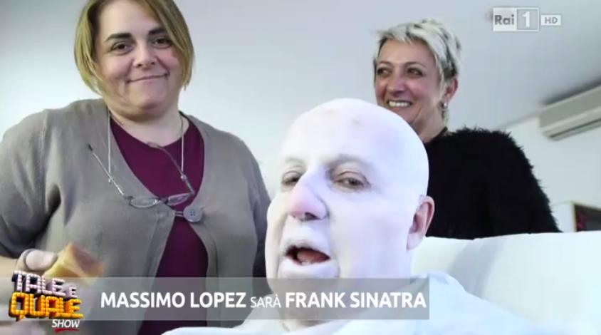 Massimo Lopez deve imitare Frank Sinatra