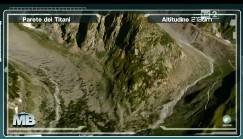 Prima scalata a Monte Bianco, Parte dei Titani a 2000 metri d'altezza