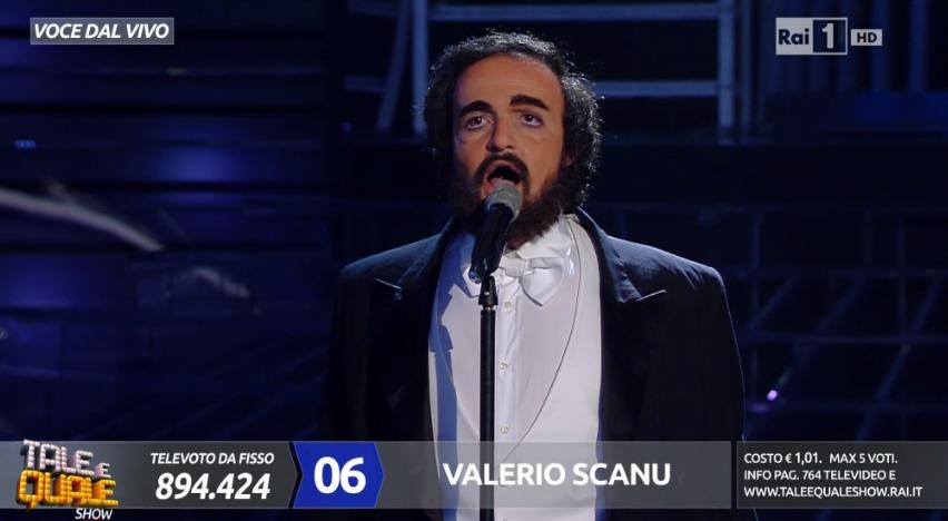 Valerio Scanu Tale e Quale a Luciano Pavarotti