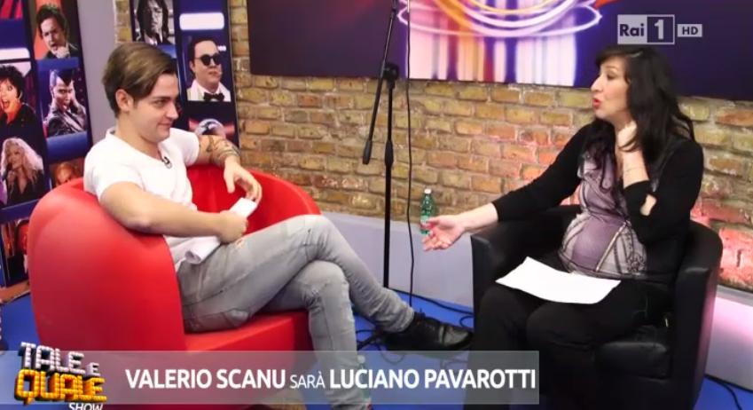 Valerio Scanu deve imitare Luciano Pavarotti