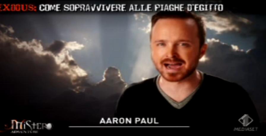 Aaron Paul parla delle Piaghe d'Egitto