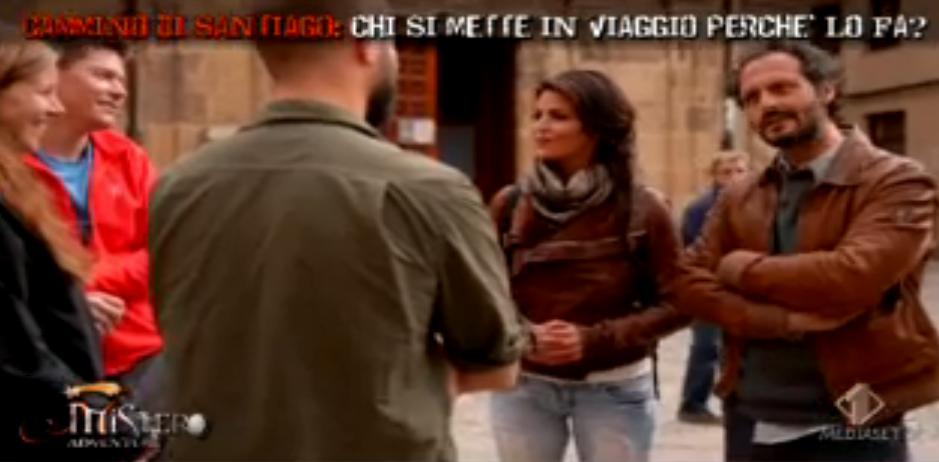 Fabio Troiano incontra un pellegrino