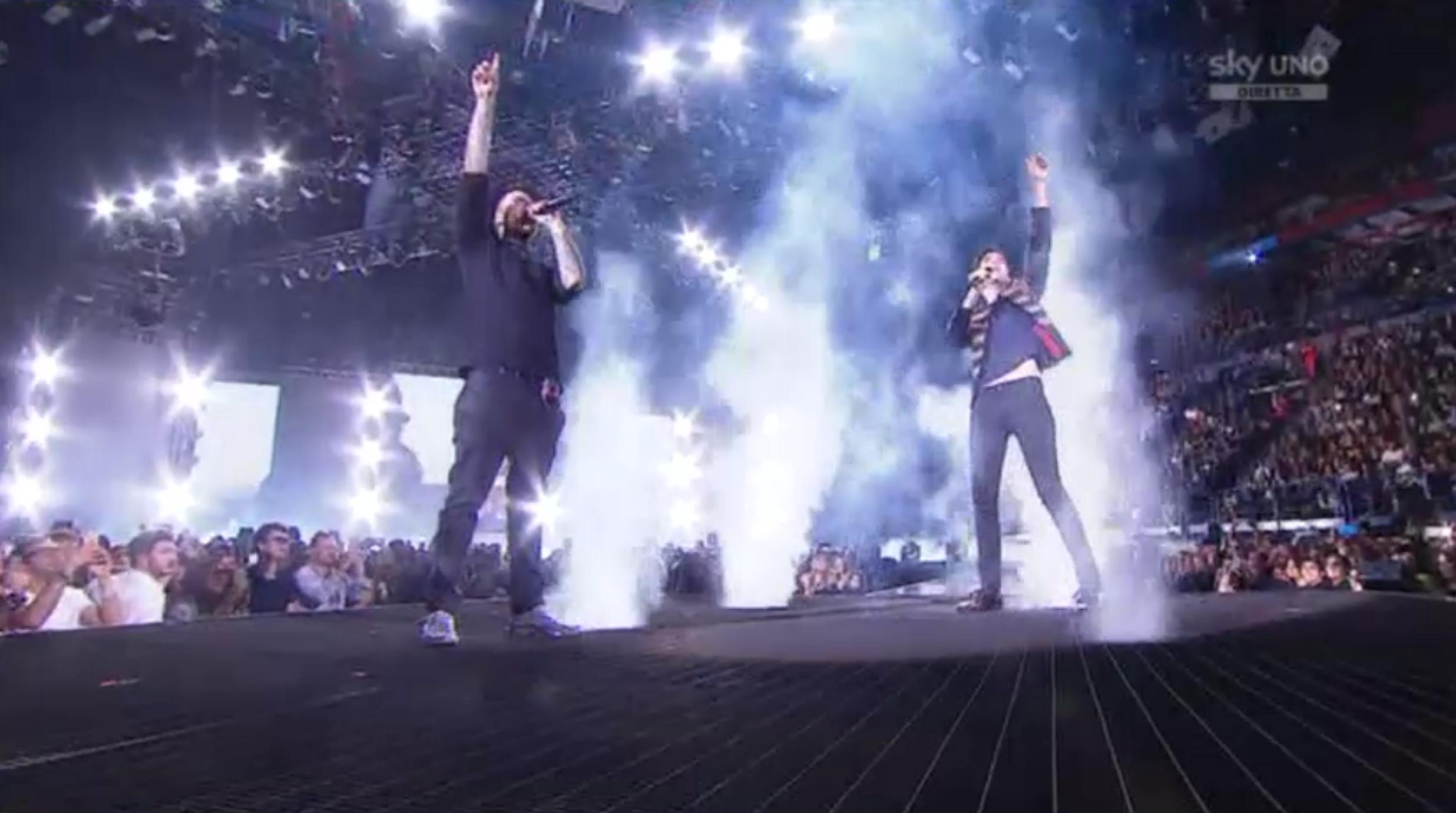 Fedez e Mika alla Finale di X Factor