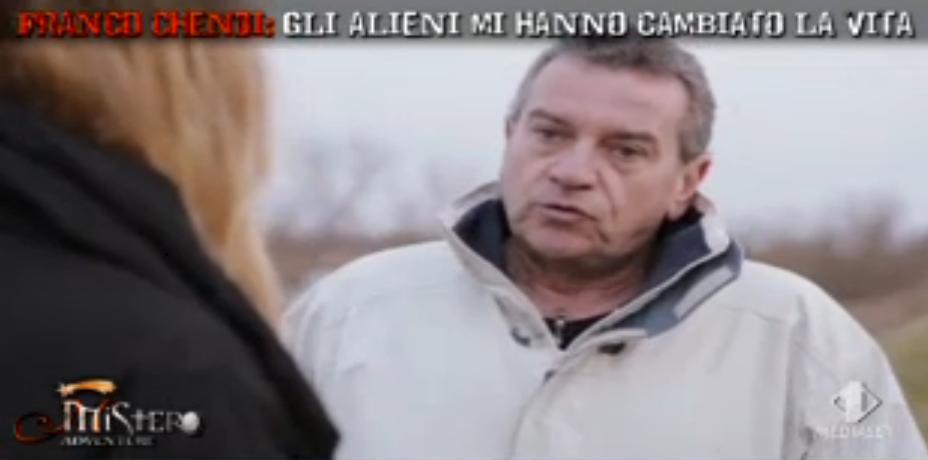 Franco Chendi 'rapito da alieni'
