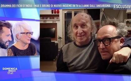 La reunion dei Fichi D'India a Domenica Live: Bruno Arena e Max Cavallari di nuovo insieme in tv