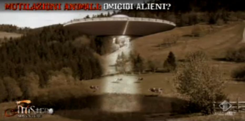 Mucche mutilate e alieni