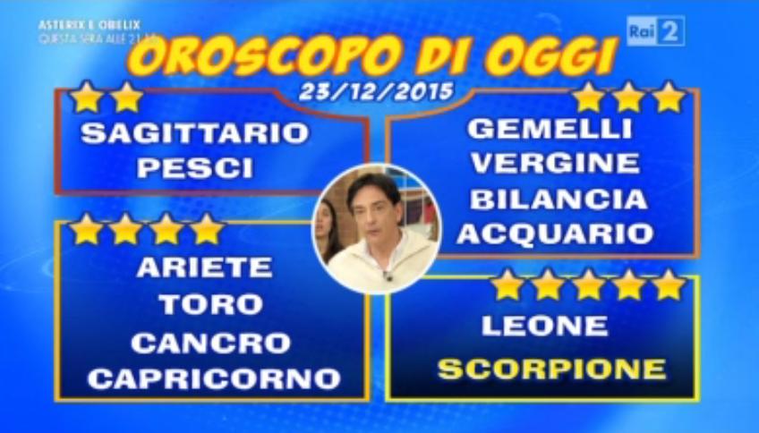 Oroscopo 23 dicembre 2015