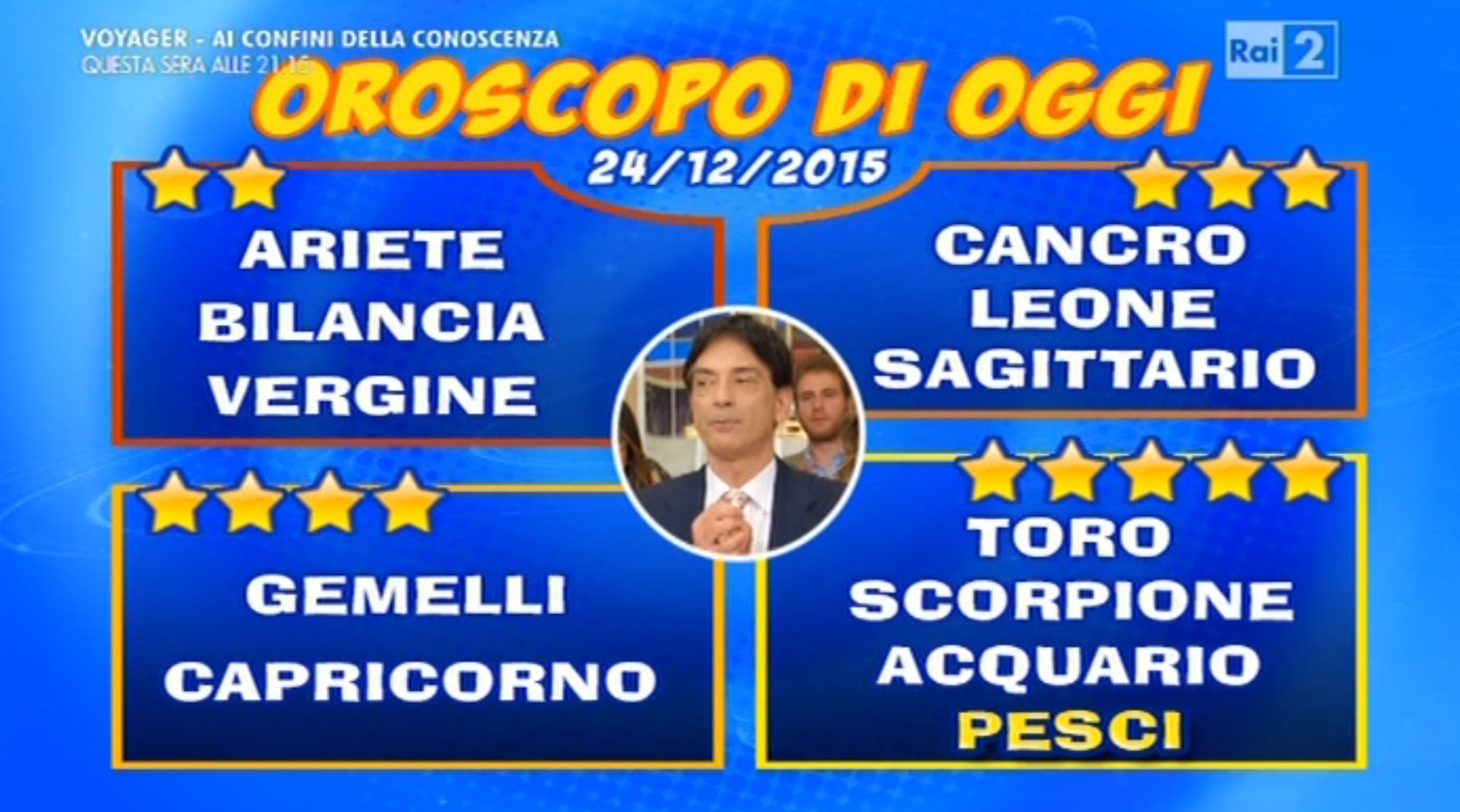 Oroscopo 24 dicembre 2015