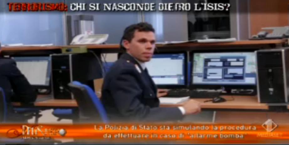 Simulazione Questura Milano per pacco sospetto