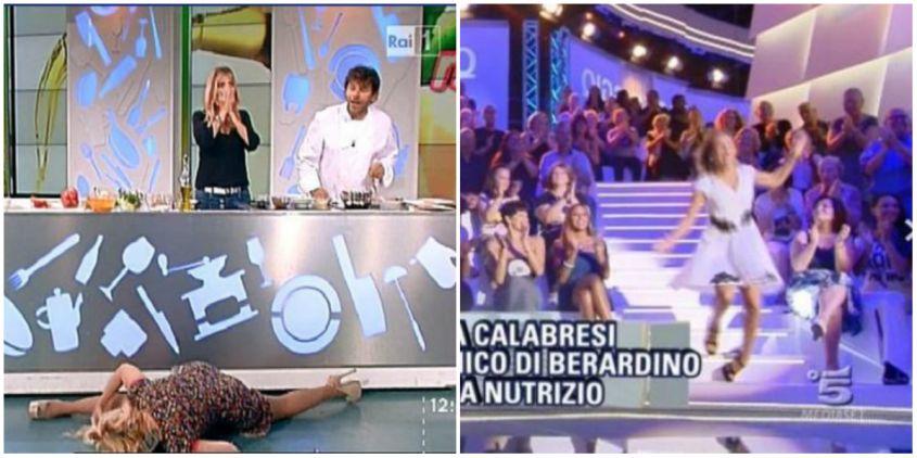 caduta tv Lisa Fusco Barbara DUrso