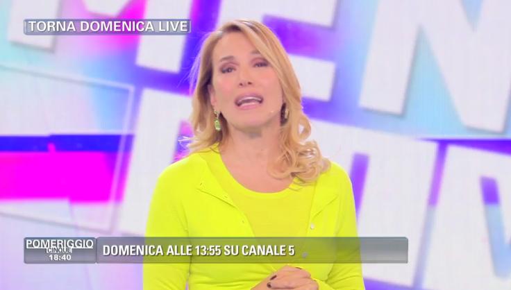 Barbara D'Urso torna con Domenica Live