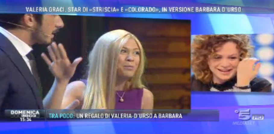 'Federica Panicucci' a Domenica Live