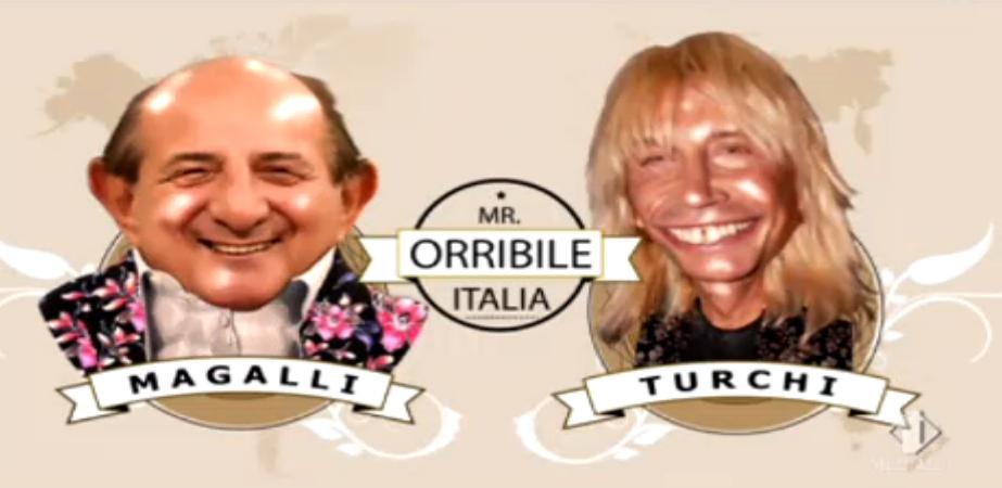 Giancarlo Magalli e Enzo Paolo Turchi in Mister Orribile Italia