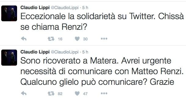 Lippi Tweet Renzi