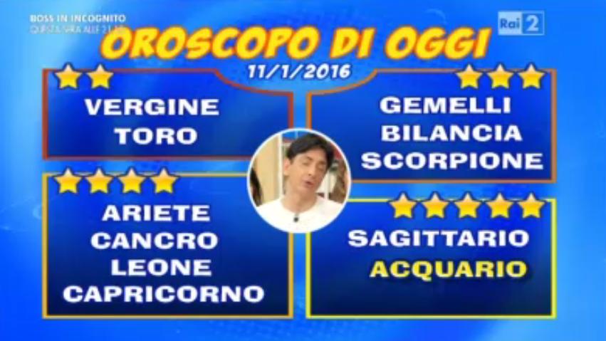 Oroscopo 11 gennaio 2016